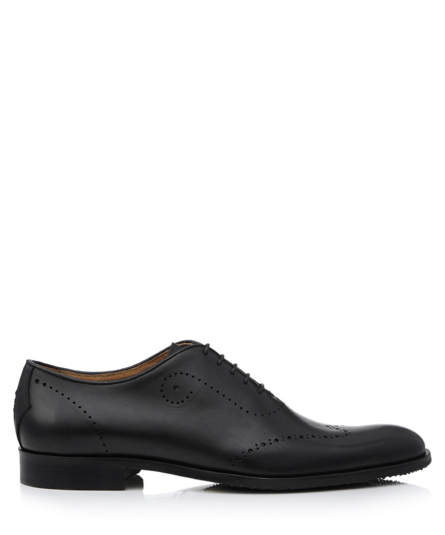 Forate black leather brogues Sale - Oliver Sweeney