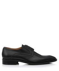 Peschini black leather Derbys