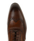 Brown leather brogue-style Derby shoes Sale - Baqietto Sale