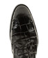Black leather moc-croc Derby shoes Sale - Baqietto Sale