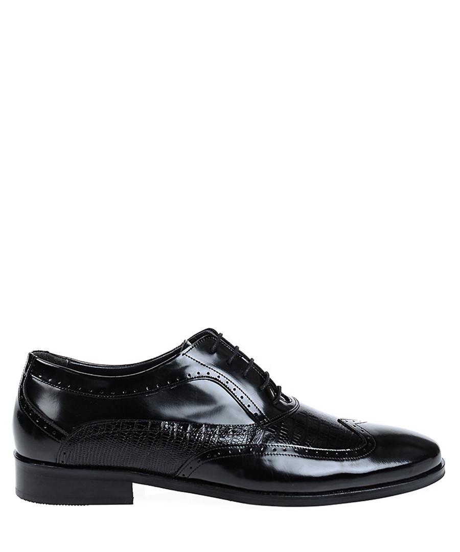 Black leather lace-up smart shoes  Sale - Baqietto