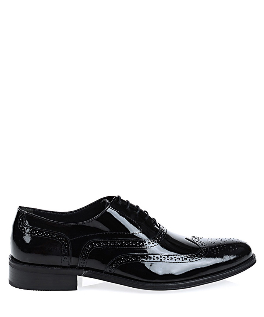 Black leather lace-up brogues Sale - Baqietto