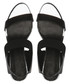 Black & silver-tone leather sandals Sale - Jady Rose Sale