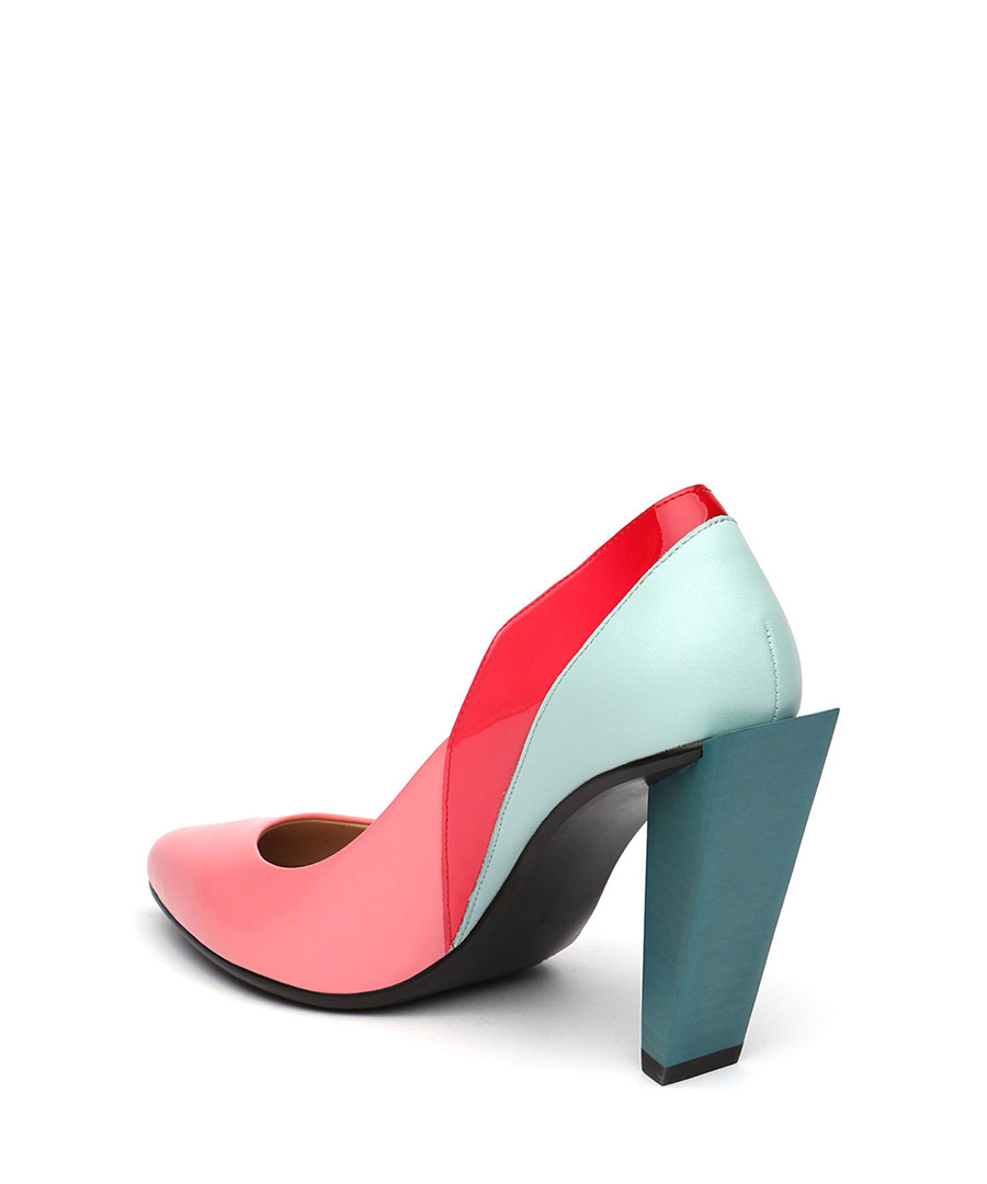 a187b817ca47 ... Pink   blue leather heels Sale - Jady Rose ...
