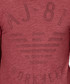 Red pure cotton large logo T-shirt Sale - armani jeans Sale