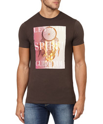 Brown cotton dream catcher T-shirt
