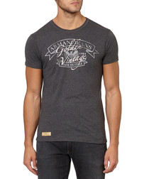 Charcoal cotton slim fit T-shirt