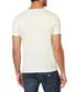 White pure cotton V-neck logo T-shirt Sale - armani jeans Sale