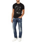 Black pure cotton 1981 logo T-shirt Sale - armani jeans Sale