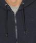 Navy cotton blend zip-up hoodie Sale - armani jeans Sale