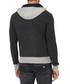 Grey wool blend dual-tone hoodie Sale - armani jeans Sale