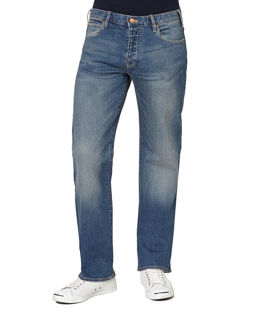 Classic blue cotton regular jeans Sale - armani jeans