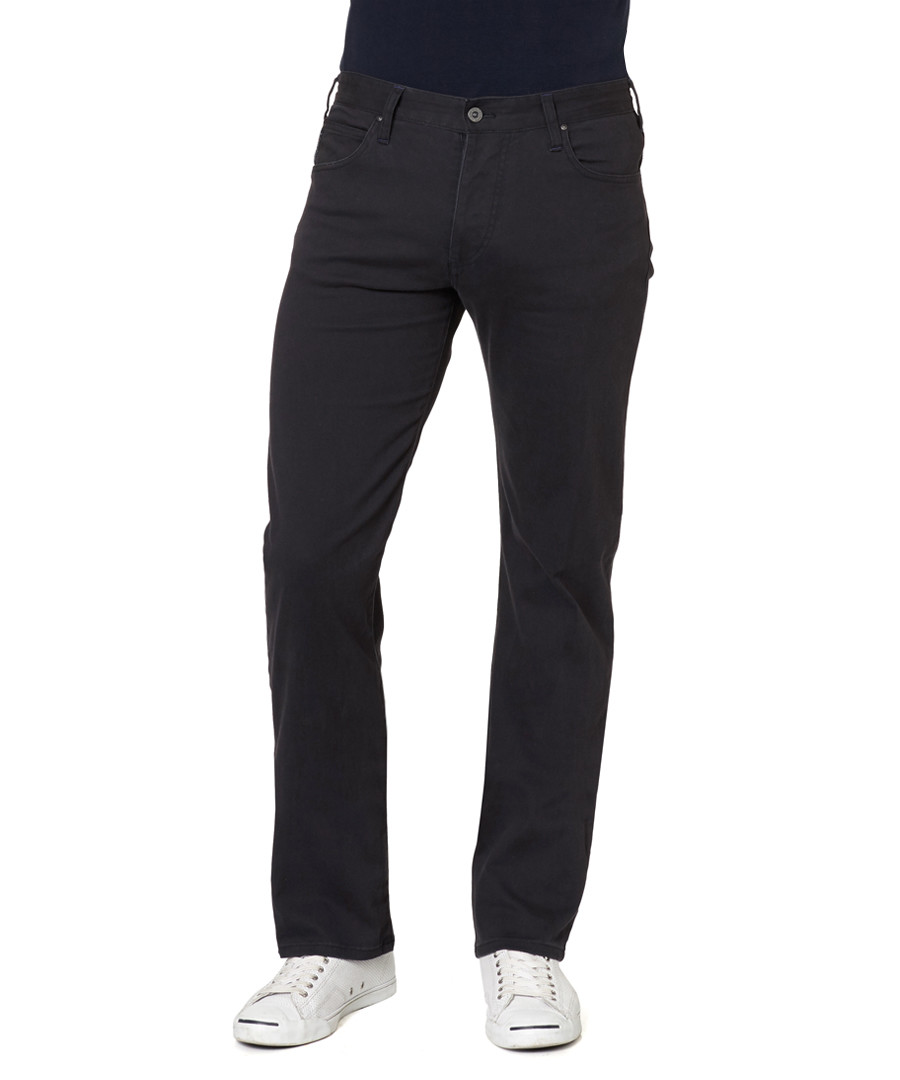 Dark blue cotton blend trousers Sale - armani jeans