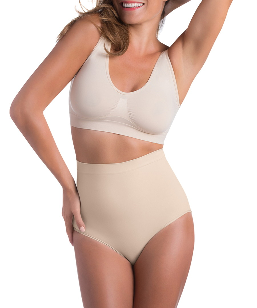 Nude high-waisted shaping briefs Sale - bodyeffect
