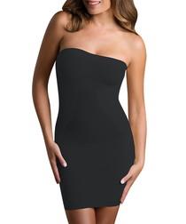 Black strapless shaping dress