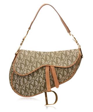 475a000235f3 Diorissimo brown jacquard saddle bag Sale - Vintage Dior Sale