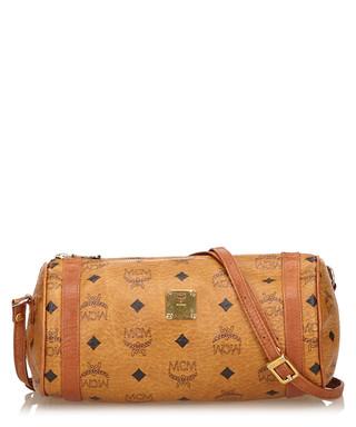 12cc51279740 Brown leather monogram baguette bag Sale - Vintage MCM Sale