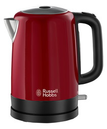 Canterbury red steel kettle 1.7L
