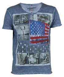 Blue pure cotton Route 66 T-shirt