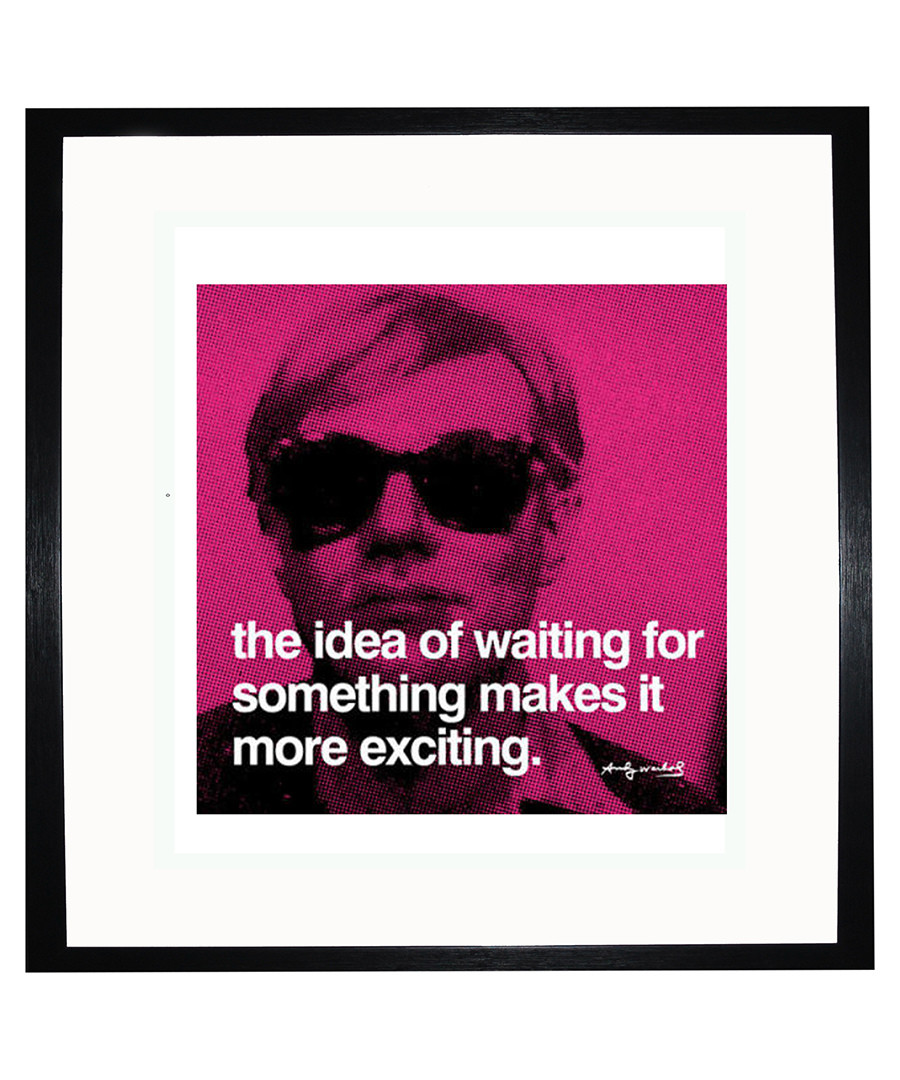 Waiting quote framed print Sale - Andy Warhol