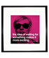 Waiting quote framed print Sale - Andy Warhol Sale