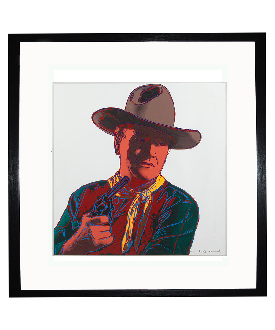 John Wayne framed print Sale - Andy Warhol