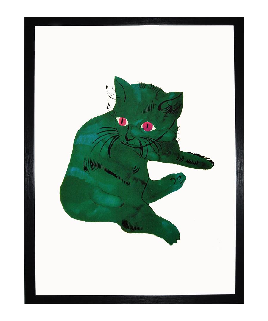 Green Cat framed print 40 x 30 cm Sale - andy warhol