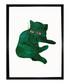 Green Cat framed print 40 x 30 cm Sale - andy warhol Sale