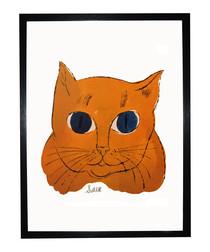 Gold Sam framed print