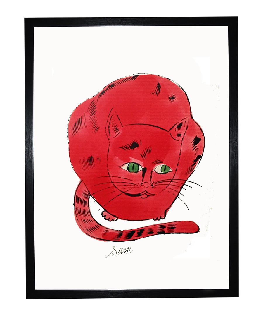 Red Sam framed print 40 x 30 cm Sale - andy warhol