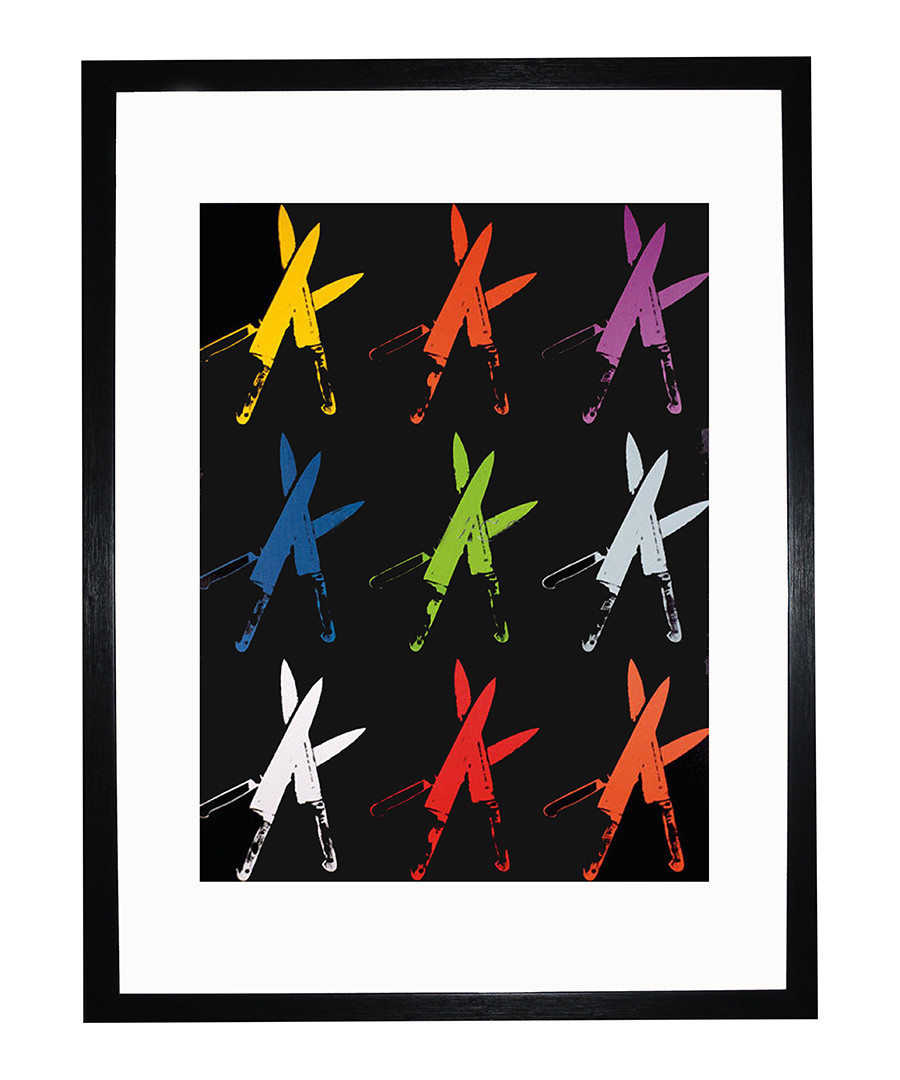 Knives framed print Sale - Andy Warhol