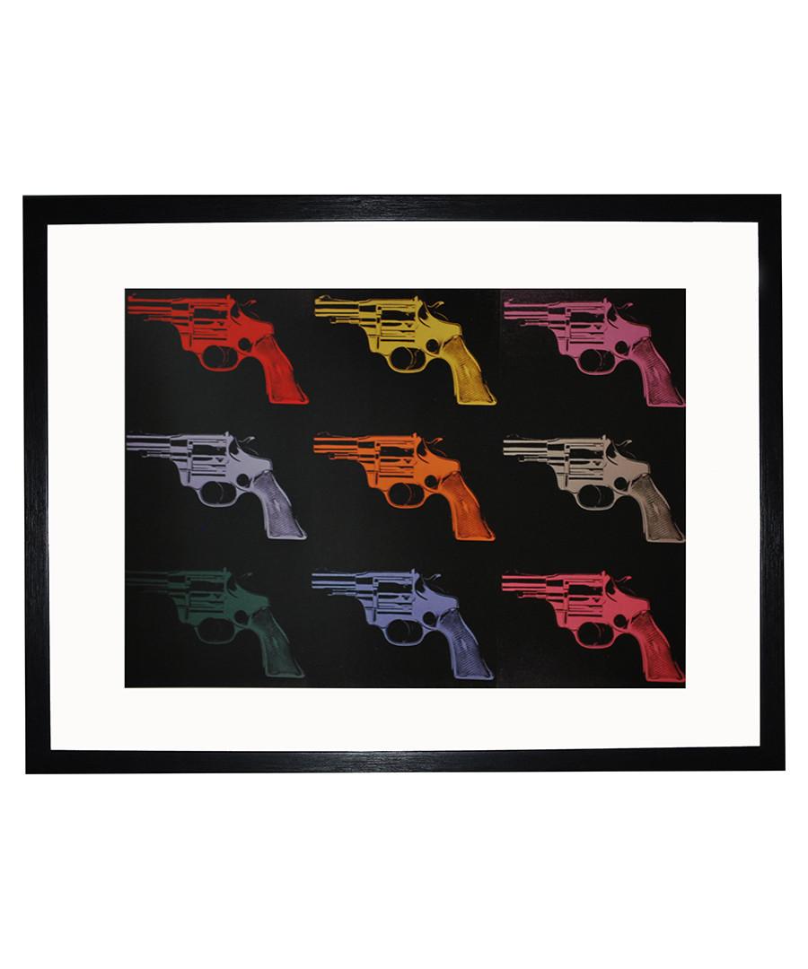Gun 1982 framed print 40 x 30 cm Sale - andy warhol