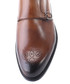 Tan leather perforated monk strap shoes Sale - deckard Sale