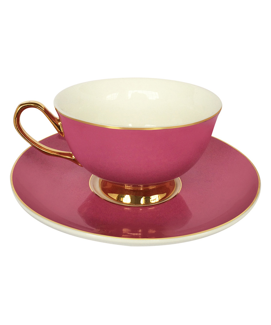Pretty In Pink china teacup & saucer Sale - Bombay Duck