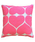 Hearts pink cotton cushion Sale - Bombay Duck Sale