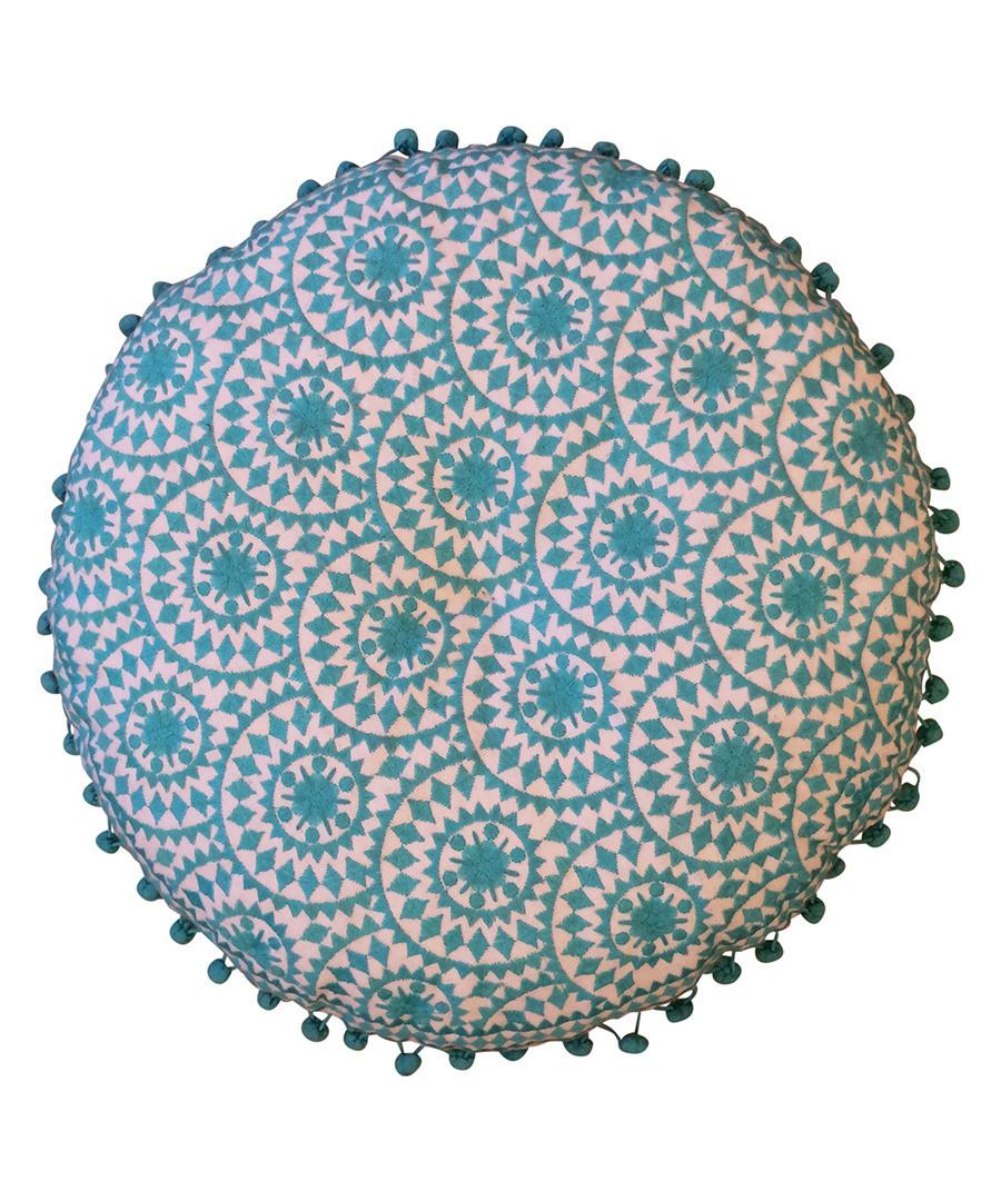 Casablanca turquoise cotton cushion Sale - bombay duck