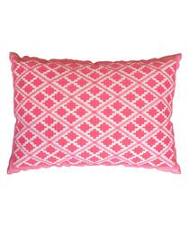 Timbuktu pink cotton cushion