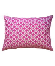 Timbuktu magenta cotton cushion