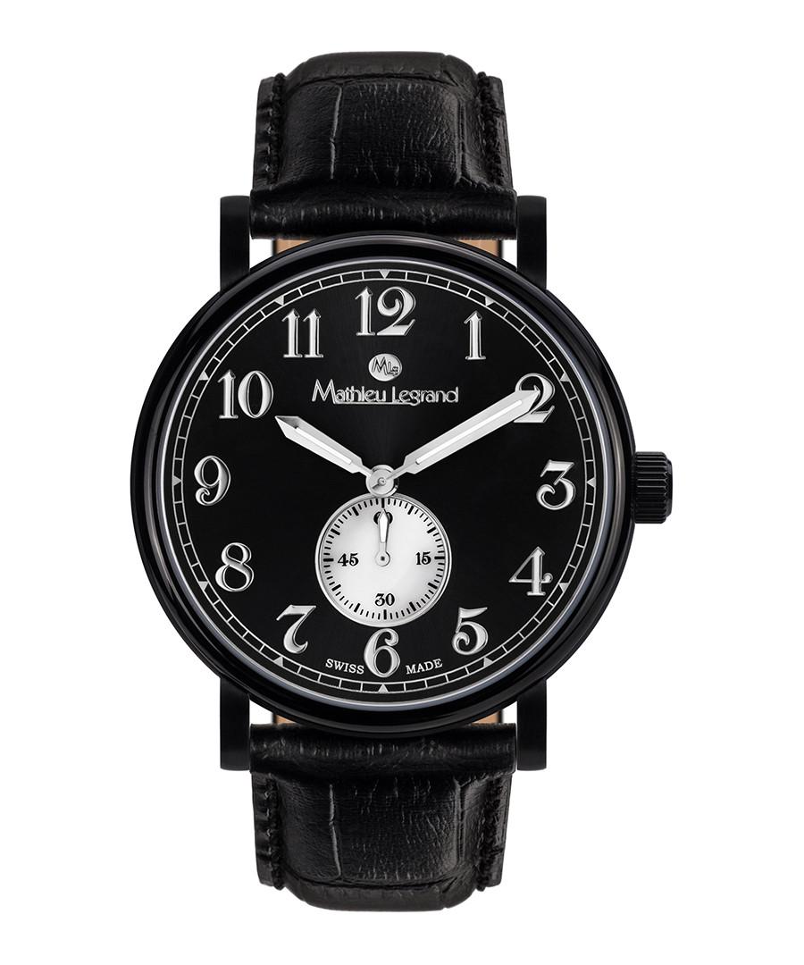 Classique IP black leather watch Sale - mathieu legrand