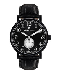 Classique IP black leather watch