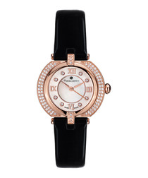 Mille Cailloux black & rose-gold watch