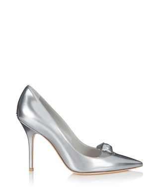 80a4a029611 Dior. Miracle silver leather court shoes