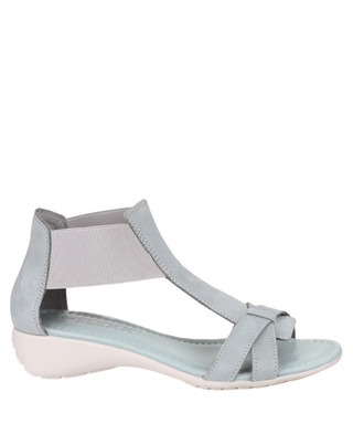 06e9d5373438 Band Together grey leather sandals Sale - The Flexx Sale