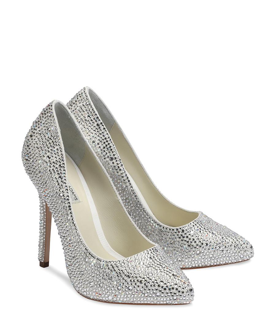 Discount Sylvia Ivory Crystal Court Shoes Secretsales