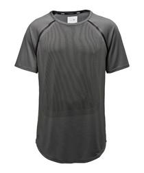 Men's Stampd dark grey raglan T-shirt