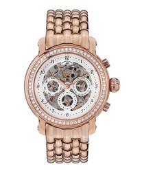 Intemporelle rose gold-tone watch