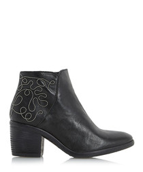 Patty black leather ankle boots