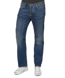 Blue cotton regular-fit jeans