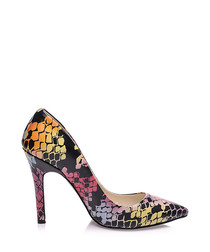 Cajo printed pure leather courts
