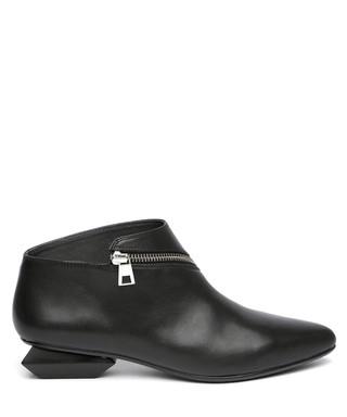 9a371f908c82c9 Black leather zip detail ankle boots Sale - Jady Rose Sale